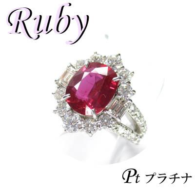 13号(1-1610-02089 ダイヤモンド リング & プラチナ ◆ ルビー AAKD) Pt900