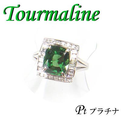 1-1603-06001 IDI ◆ Pt900 プラチナ リング トルマリン & ダイヤモンド 14.5号