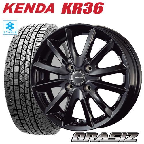 ブランド品 スタッドレスタイヤ ホイール 新品4本セット185 65R15 2021年製 185 KENDA KR36 ICETEC NEO ケンダKR36 アイステックネオ KOSEI ノート クレイシズVS6 タイヤ付ホイール4本セット フリード 5.5-15 MAZDA2 ブラック デミオ 4 受注生産品 CRASIZ VS6 100