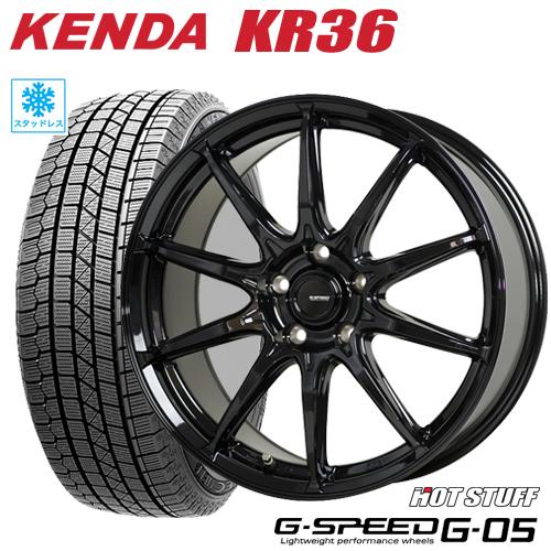スタッドレスタイヤ ホイール 新品4本セット215 45R17 2021年製 215 KENDA KR36 人気商品 ICETEC NEO ケンダKR36 アイステックネオ HOTSTUFF BRZ G05 7.0-17 PHV Gスピード G-05 G-SPEED ホットスタッフ プリウス 5 86 100 有名な タイヤ付ホイール4本セット