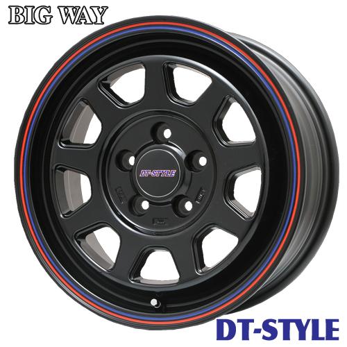1本価格 4本購入で送料無料 アルミホイール BIGWAY DT-STYLE DTスタイル デリカD:5 特価キャンペーン エクストレイル 7.0-16 高品質 114 5