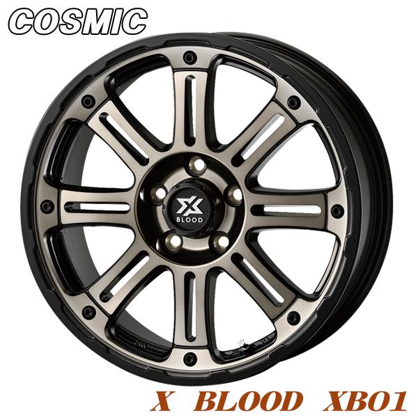 4本価格 特価 送料無料 驚きの価格が実現 アルミホイール COSMIC X BLOOD XB01 マットスモーククリア デリカ 7.0-16 エクストレイル 5 114
