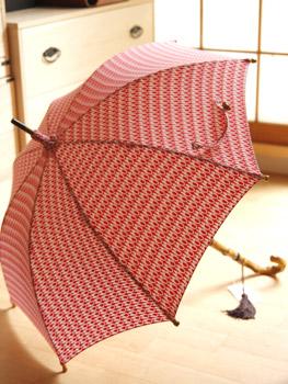 型小紋染 晴雨兼用日傘 UV加工 パラソル 室町はさみ【3色】■三橋工房