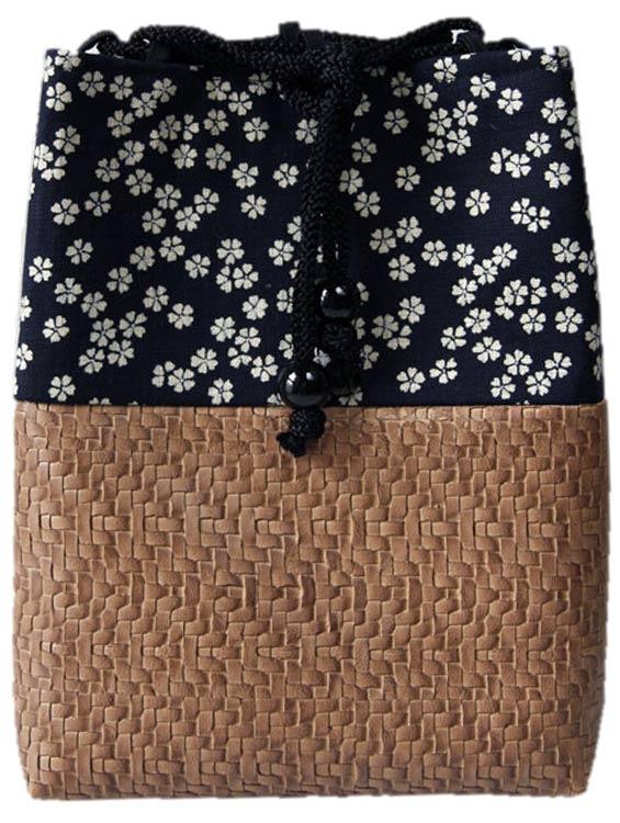 男性用巾着袋 メンズ 信玄袋(合切袋)【小桜】 ■小室久美子