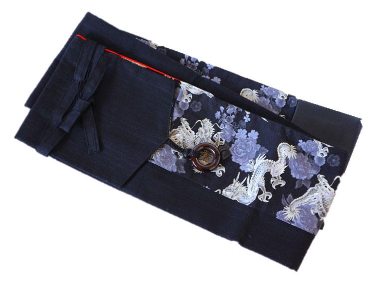 剣道 竹刀袋 剣道具竹刀袋(3本入り) 龍花 (底合皮・黒) ■小室久美子