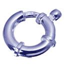 シルバー クラスプ【ジャンボクラスプ】(丸カン付) 13mm ロジウムカラー《10個》 留め具 金具 エンドパーツ //ロジウムカラーコーティング