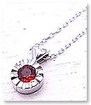 【送料無料】 p-017-n-rs PANDA JEWELRY [ パンダジュエリー ] K10WGキラキラハートのネックレス(レッドサファイア)ホワイトゴールド