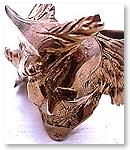 【受注製作】sj-01bb S.J.鎧 戦国武将スカルリング - 伊達正宗 - ブラスブラウンゴールドメッキ S.J.鎧(gai)[シルバー/ブラスアクセサリー]
