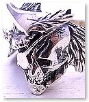 【受注製作】sj-01s S.J.鎧 戦国武将スカルリング- 伊達正宗 - シルバー925 S.J.鎧(gai)[シルバー/ブラスアクセサリー]
