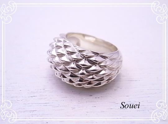 スクアーマリング 指輪 Souei [ ソウエイ ] シンプル 作家 アクセサリー sru-003