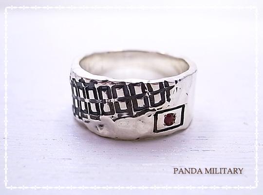 戦車わだちリング(10戦車)燻し PANDA MILITARY ミリタリージュエリー☆