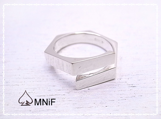 Split Nut Ring ナット型 シルバー リング 指輪 SV925 17号 [-MNiF(ムニフ)-]