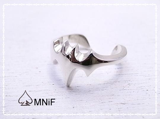 コウモリの翼 シルバー リング 指輪 Bat Ring SV925 17号 [-MNiF(ムニフ)-]
