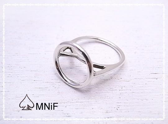 サークル シルバー リング 指輪 隠れ猫 キャット Circle Ring SV925 7 9 11号 [-MNiF(ムニフ)-]