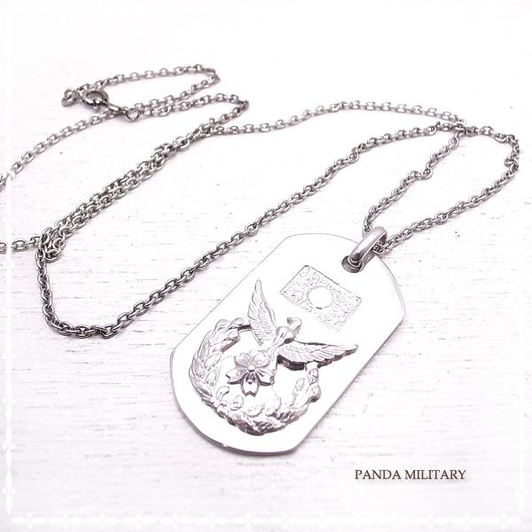 メンズ防衛大学校 ネックレス PANDA MILITARY ミリタリージュエリー☆ 自衛隊