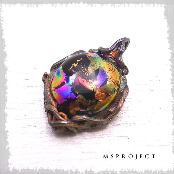 チタンガラスペンダント ネックレス ダイクロガラス NASA エムエスプロジェクト 【MS project 鬼束信】 msp-054