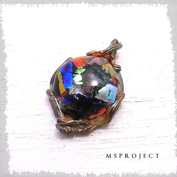チタンガラスペンダント ネックレス ダイクロガラス NASA エムエスプロジェクト 【MS project 鬼束信】 msp-056