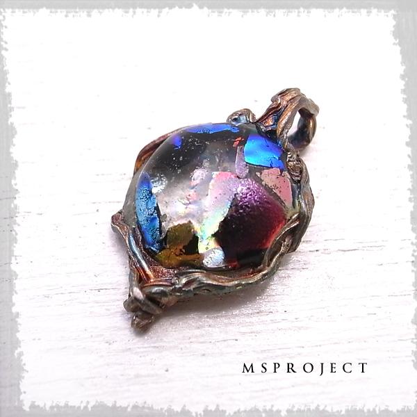 チタンガラスペンダント ネックレス ダイクロガラス NASA エムエスプロジェクト 【MS project 鬼束信】 msp-057