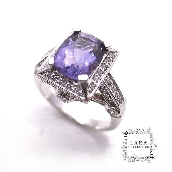 アイオライト&ジルコニア シルバーリング 指輪【14号】 Lara collection [ ララ コレクション ]