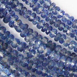 カイヤナイト 【カットビーズ】 約4.6x2.5mm《1連 約40cm》 天然石