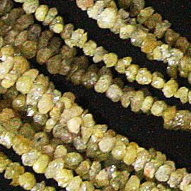 イエローダイヤモンド 【カットビーズ】 約2.3x1.5mm《1連 約40cm》 天然石