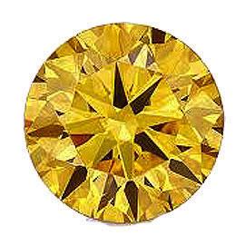 カラーダイヤモンド 【ラウンドカット】 ルース ゴールドイエロー 2.8mm 天然石 アクセサリー diac-gly-28