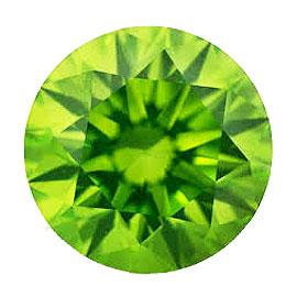 カラーダイヤモンド 【ラウンドカット】 ルース ペリドットグリーン 2.7mm 天然石 アクセサリー diac-prg-27