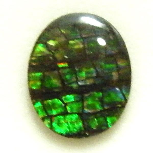 アンモライト(Ammolite) 1点限定 トリプレットルース 約9x11mm 2.46ct 裸石 ルース アンモナイト