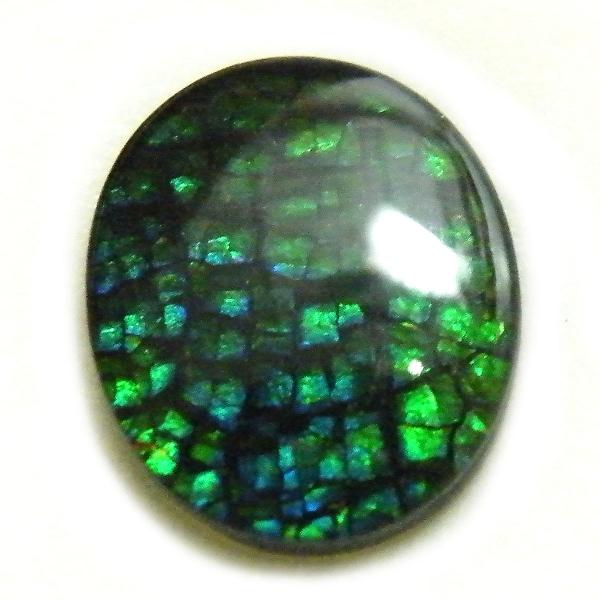 アンモライト(Ammolite) 1点限定 トリプレットルース 約10x12mm 2.99ct 裸石 ルース アンモナイト