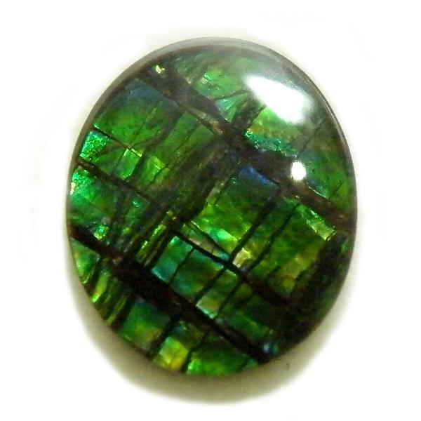 アンモライト(Ammolite) 1点限定 トリプレットルース 約9x11mm 2.47ct 裸石 ルース アンモナイト