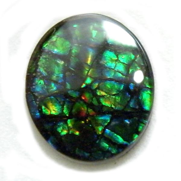 アンモライト(Ammolite) 1点限定 トリプレットルース 約9x11mm 2.36ct 裸石 ルース アンモナイト