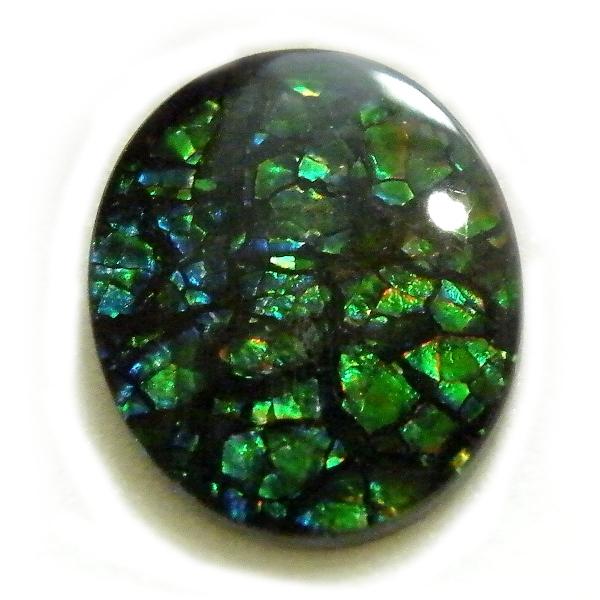 アンモライト(Ammolite) 1点限定 トリプレットルース 約10x12mm 2.84ct 裸石 ルース アンモナイト