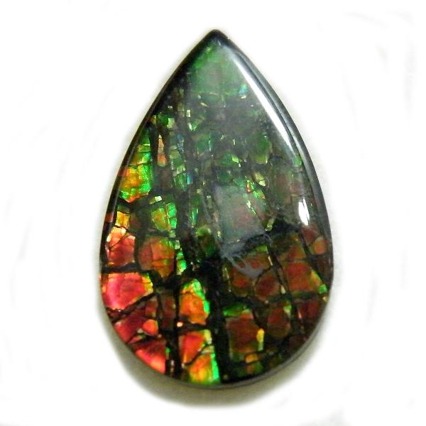アンモライト(Ammolite) 1点限定 トリプレットルース 約11x18mm 5.23ct 裸石 ルース アンモナイト