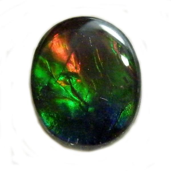 アンモライト(Ammolite) 1点限定 トリプレットルース 約8x10mm 2.01ct 裸石 ルース アンモナイト