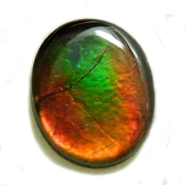 アンモライト(Ammolite) 1点限定 トリプレットルース 約8x10mm 2.04ct 裸石 ルース アンモナイト