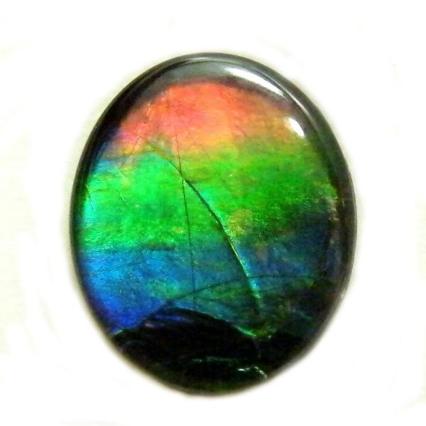 アンモライト(Ammolite) 1点限定 トリプレットルース 約9x11mm 2.718ct 裸石 ルース アンモナイト