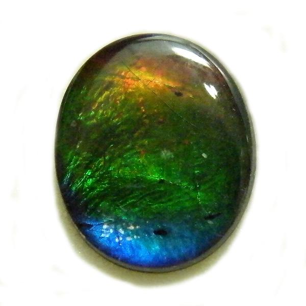 アンモライト(Ammolite) 1点限定 トリプレットルース 約9x11mm 2.560ct 裸石 ルース アンモナイト