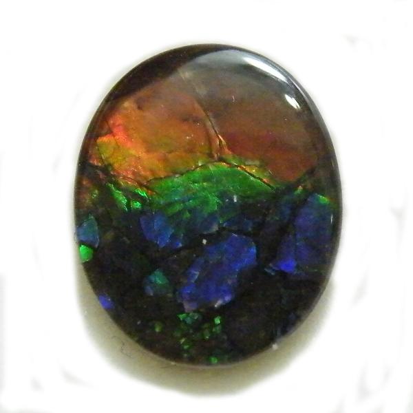 アンモライト(Ammolite) 1点限定 トリプレットルース 約9x11mm 3.30ct 裸石 ルース アンモナイト