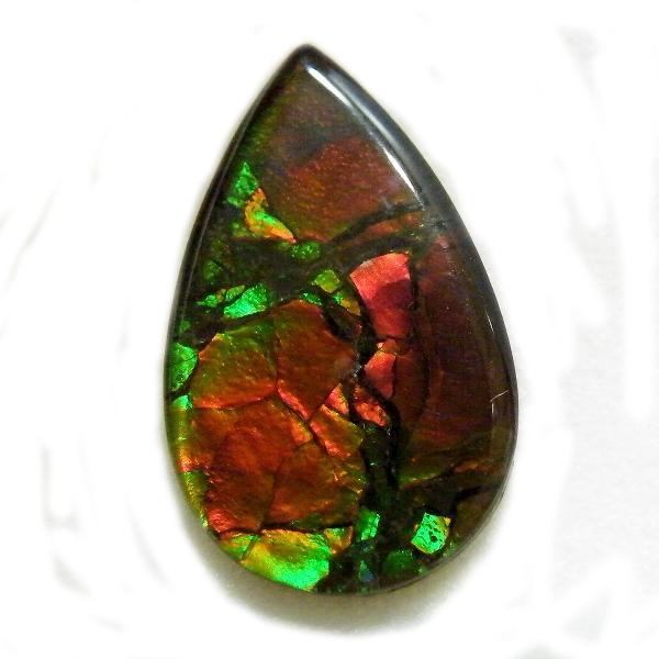 アンモライト(Ammolite) 1点限定 トリプレットルース 約11x18mm 4.55ct 裸石 ルース アンモナイト