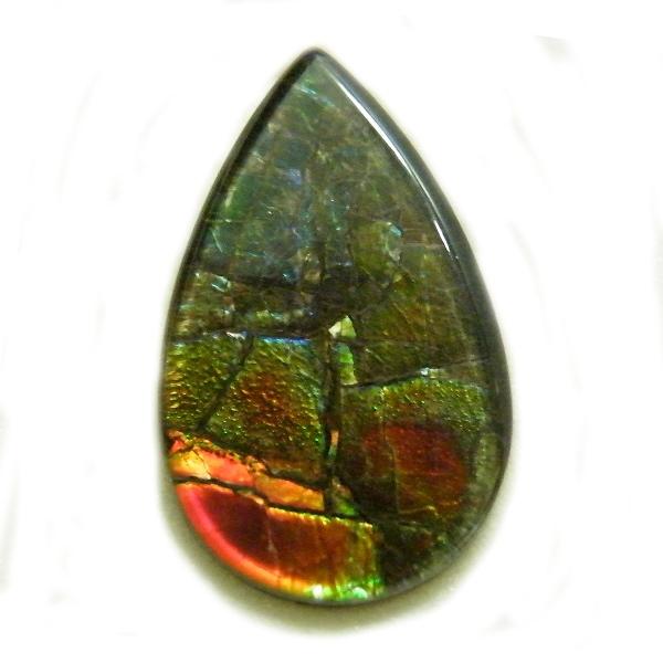 アンモライト(Ammolite) 1点限定 トリプレットルース 約11x18mm 5.10ct 裸石 ルース アンモナイト