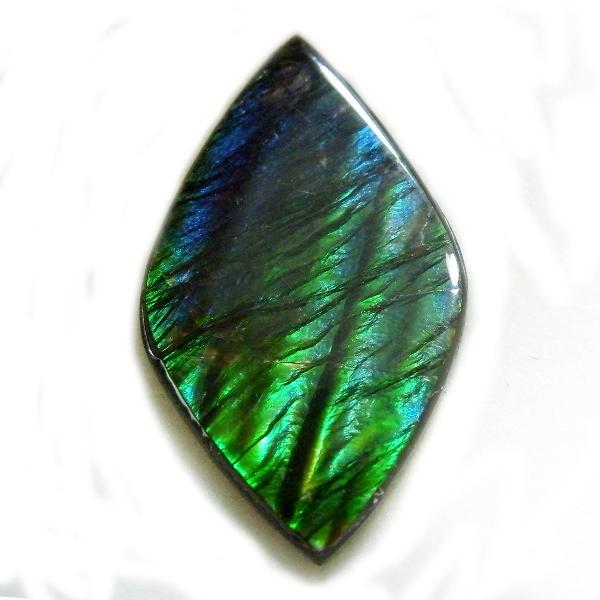 アンモライト(Ammolite) 1点限定 トリプレットルース 約15x25mm 10.21ct 裸石 ルース アンモナイト