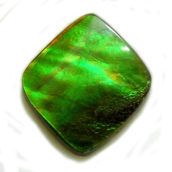 アンモライト(Ammolite) 1点限定 トリプレットルース 約16x18mm 7.46ct 裸石 ルース アンモナイト