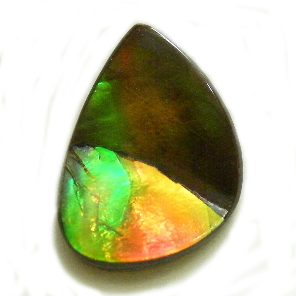 アンモライト(Ammolite) 1点限定 トリプレットルース 約14x19mm 8.53ct 裸石 ルース アンモナイト
