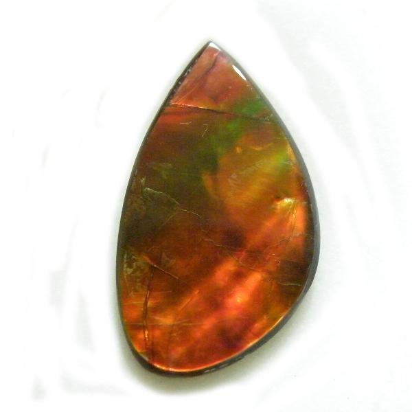 アンモライト(Ammolite) 1点限定 トリプレットルース 約14x23mm 9.04ct 裸石 ルース アンモナイト