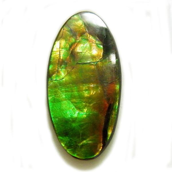アンモライト(Ammolite) 1点限定 トリプレットルース 約14x28mm 14.46ct 裸石 ルース アンモナイト