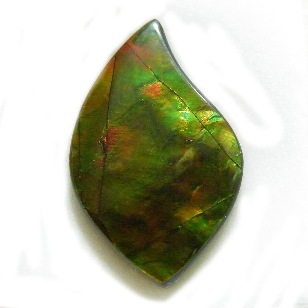 アンモライト(Ammolite) 1点限定 トリプレットルース 約16.5x26.5mm 14.07ct 裸石 ルース アンモナイト