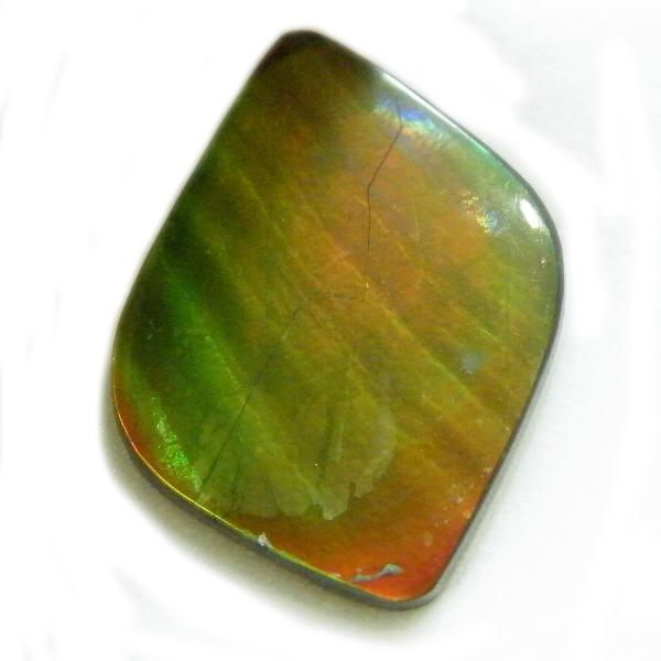 アンモライト(Ammolite) 1点限定 トリプレットルース 約19x24mm 13.22ct 裸石 ルース アンモナイト
