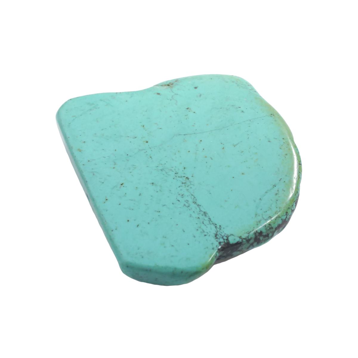 天然石パーツ ターコイズ トルコ石 スライスパーツ 両サイド片穴あり 約60x67.7x16.3mm