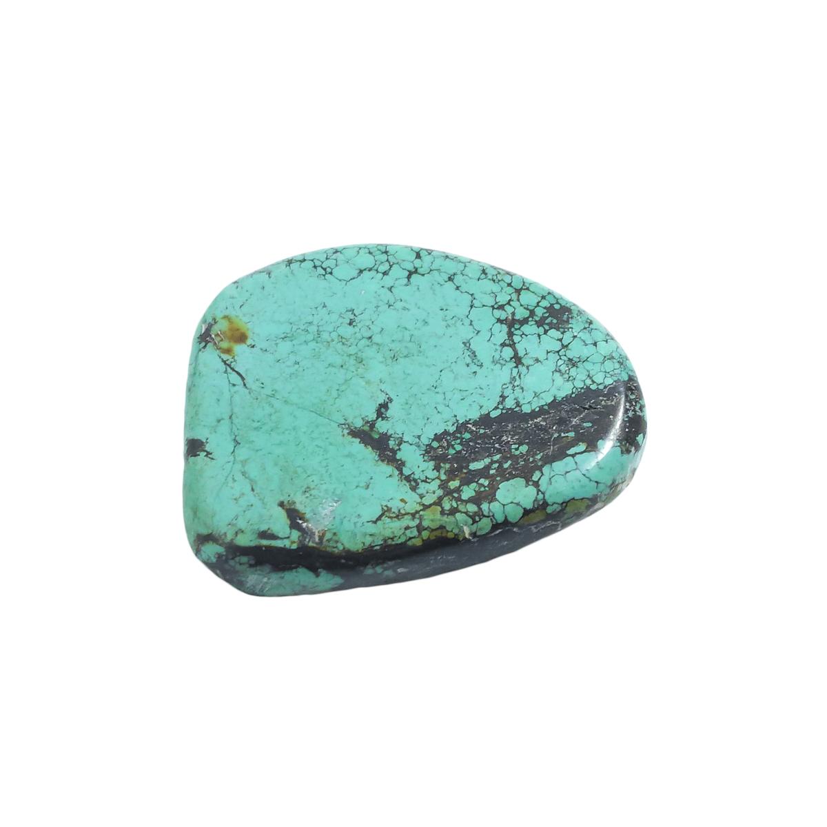 天然石パーツ ターコイズ トルコ石 スライスビーズ 約44x50.7x10.8mm 44g