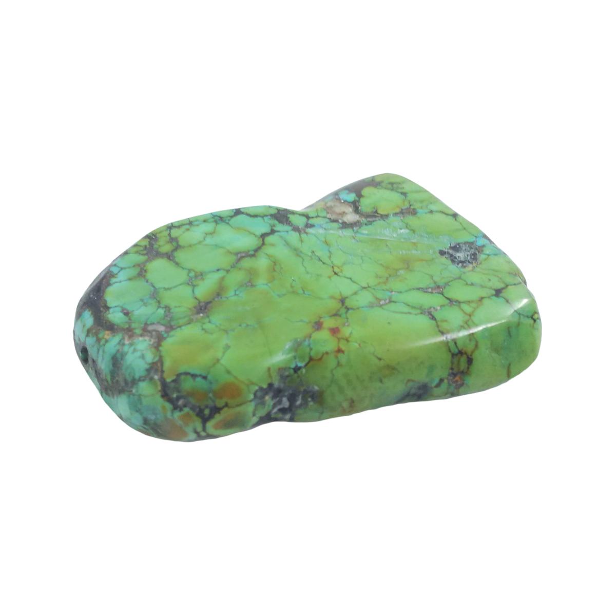 天然石パーツ ターコイズ トルコ石 スライスビーズ 約76.5x59.2x12mm 98g